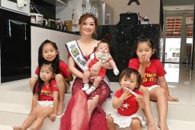 Mrs Singapore runner-up is grandma of five
