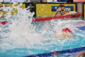 Lithuanian swimmer Danas Rapsys gets World Cup hat-trick in 400m free