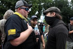 Right-wing, anti-fascist groups clash in Portland