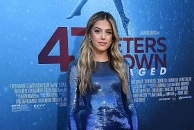 Stallone's daughter goes into the blue at film premiere
