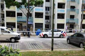 Man found dead at foot of block, wife dies of heart attack