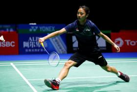 Singapore's Yeo Jia Min has reached the quarter-finals of the BWF World Championships.