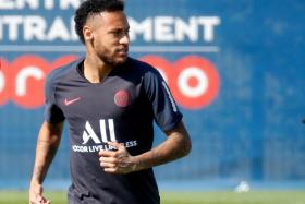 Neymar attended Paris Saint-Germain's training session earlier in the week, but he missed their 2-0 win over Metz on Saturday morning.