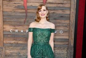School of frock: Jessica Chastain makes us green with envy