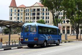 ComfortDelGro trials on-demand bus in Tanjong Rhu, Meyer Road