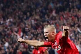 Salzburg striker Erling Braut Haaland marks debut with hat-trick
