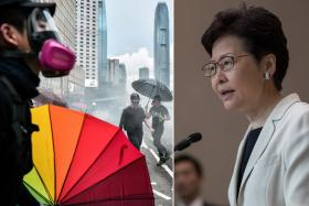 Let's talk, but no umbrellas please: Lam to protesters
