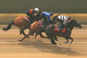 Sir Issac beating Mr Dujardin and River Ruby in Trial 4.