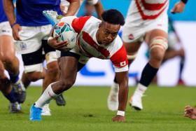 Japan's Kotaro Matsushima helped the Brave Blossoms grab a last-minute try for the all-important bonus point.