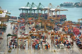Exports shrank at a lower pace last month