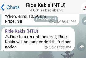 NTU student 'molested' in car ride