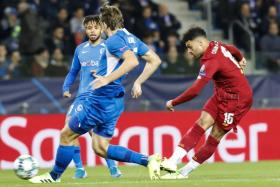 Liverpool's Alex Oxlade-Chamberlain scoring against Genk.