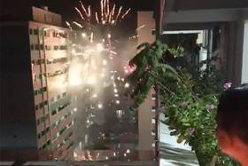 Police investigating fireworks launched in Jurong West