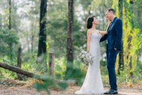 TV host-actress Belinda Lee (left) married American architect David Moore on Oct 27.