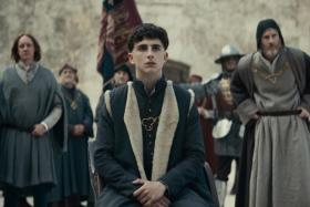 Timothee Chalamet plays Henry V in The King