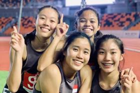 Singapore's young 4x100m team deliver surprise by breaking record