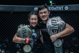 Siblings Angela Lee and Christian Lee both won titles during the ONE: Century event in Tokyo on Oct 13.