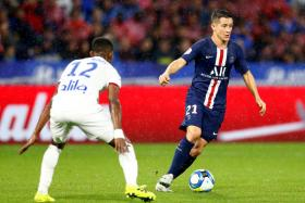 """Ander Herrera (right) is enjoying his time with Paris Saint-Germain, where they """"breathe football""""."""