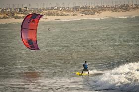 Kitesurf the waves in unlikely Western Sahara