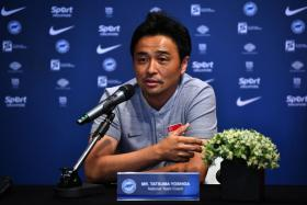 Singapore coach Tatsuma Yoshida handed fullback Iqram Rifqi his debut against Qatar.