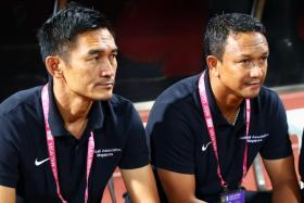 Nazri Nasir (left) will take over from Fandi Ahmad (right) as Young Lions coach next season.