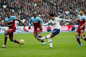 Son Heung Min firing Spurs ahead.