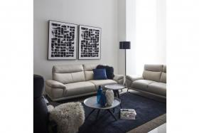 Kingdom Leather 2-seater Sofa at $1,199 (usual price $2,399)