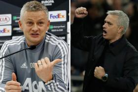 Ole Gunnar Solskjaer (left) expects Jose Mourinho (right) to receive a warm welcome when he returns to Old Trafford.