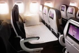 (Above) Air New Zealand's Economy Skycouch.