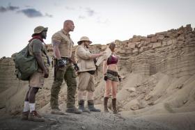 (From left) Kevin Hart, Dwayne Johnson, Jack Black and Karen Gillan in Jumanji: The Next Level