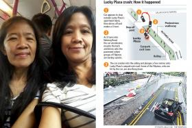 One sister dead, the other critically injured in Lucky Plaza crash
