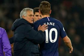 Tottenham Hotspur manager Jose Mourinho consoling Harry Kane as he leaves the pitch following an injury in the 1-0 loss to Southampton.