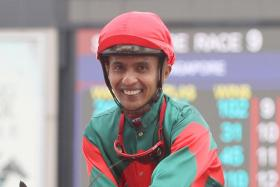 Jockey K A'Isisuhairi stopped riding about three strides before the winning post, causing his mount to lose second placing.