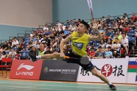 Jason Teh (above) won the men's singles title of the Singapore Sports Hub Open 2020 by defeating Vega Vio Nirwanda 21-14, 21-11.