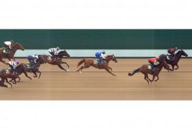 Bold Thruster (No. 1) taking Trial 3 at Kranji yesterday in the fastest time.