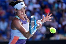 Garbine Muguruza (above) will meet Sofia Kenin in the Australian Open final.