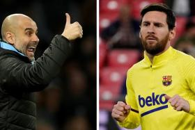 Pep Guardiola (left) coached Lionel Messi (right) when he was Barcelona coach from 2008 to 2012.