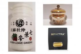 The three products contain high-risk medicinal ingredients.