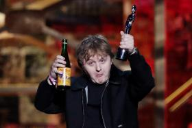 Lewis Capaldi receives the award for Song of the Year for 'Someone You Loved' at the Brit Awards at the O2 Arena in London, Britain, February 18, 2020.