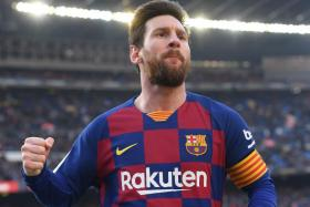 Barcelona superstar Lionel Messi scored four goals in a 5-0 rout of Eibar on Saturday.