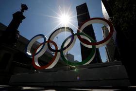 Olympic rings display in Tokyo