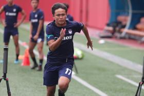Albirex's local players Iman Hakim (above), Zamani Zamri, Ong Yu En, Aizil Yazid, Daniel Goh, Gareth Low and Hyrulnizam Juma'at.