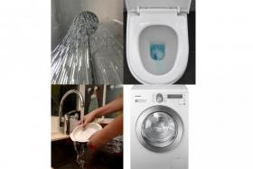The new survey found that showering, flushing, kitchen activities and laundry remain the biggest water guzzlers, forming 77 per cent of total water use in a home.