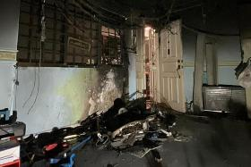 SCDF saves three trapped people after PMD catches fire in Sengkang