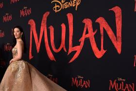 "US-Chinese actress Yifei Liu attends the world premiere of Disney's ""Mulan"" at the Dolby Theatre in Hollywood on March 9, 2020."