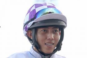 Apprentice jockey CK Ng.