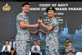 New navy chief takes over in parade with Covid-19 safety measures