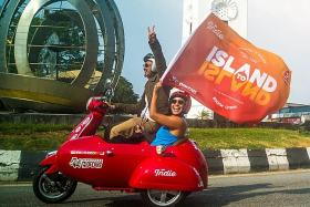 Racing for charity: Fastest sidecar trip from Singapore to Penang