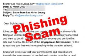 PM Lee warns against fake Covid-19 e-mail purportedly sent by him