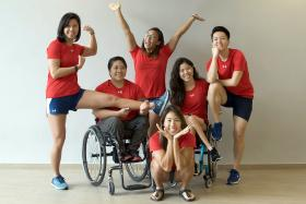 Former, current S'pore athletes doing extra workouts in aid of charity